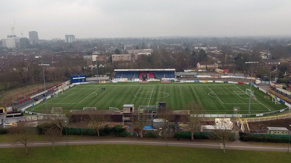 Vista aérea del Gander Green Lane.