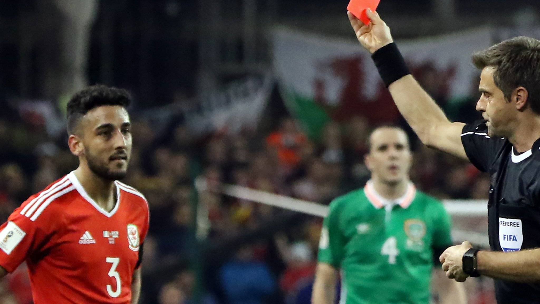 Wales' Taylor given two-game ban for leg-breaking tackle on Coleman