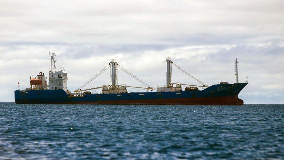 La flota pesquera de China es la más grande del mundo, con grandes naves que navegan por aguas tan lejanas como las próximas a Ecuador.