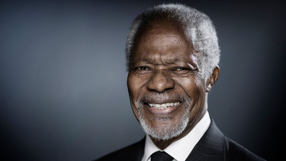 Kofi Annan: Former UN chief and Nobel Peace Prize laureate