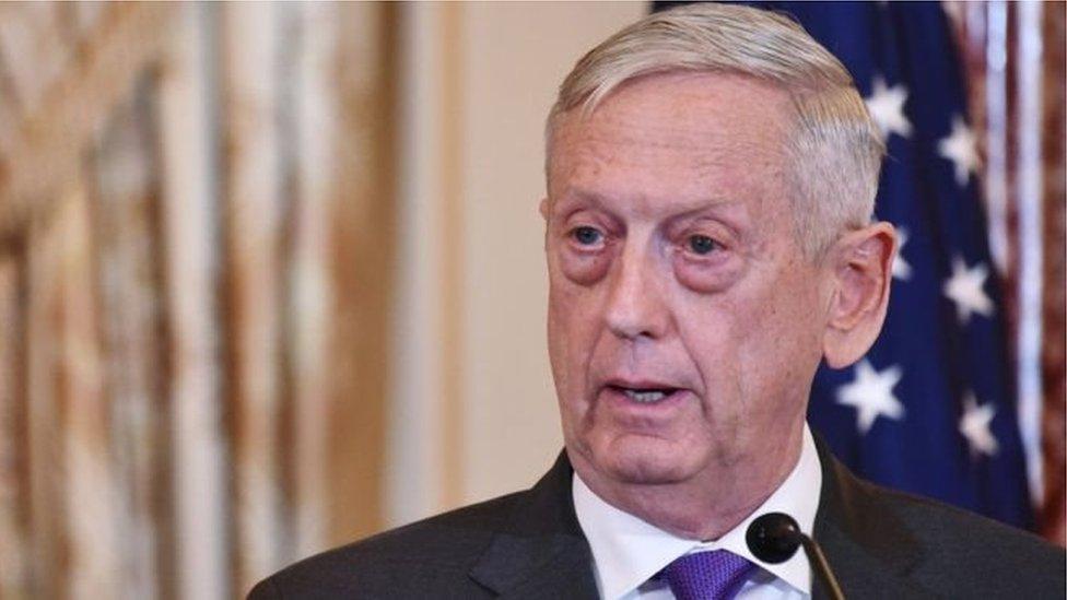 د امریکا دفاع وزیر جیمس مټیس استعفا اعلان کړه