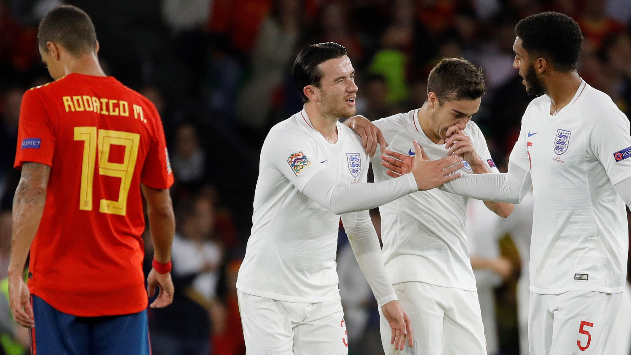 Spain 2-3 England: Gareth Southgate praises Three Lions 'courage'