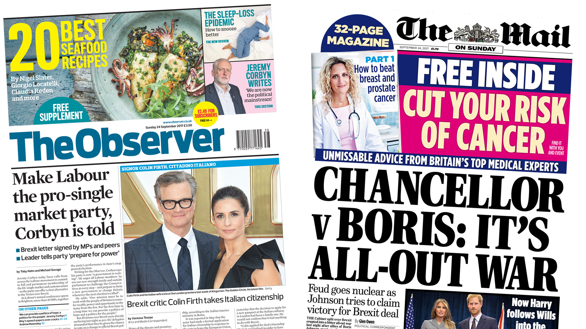 The Papers: Cabinet 'all-out war' over Brexit
