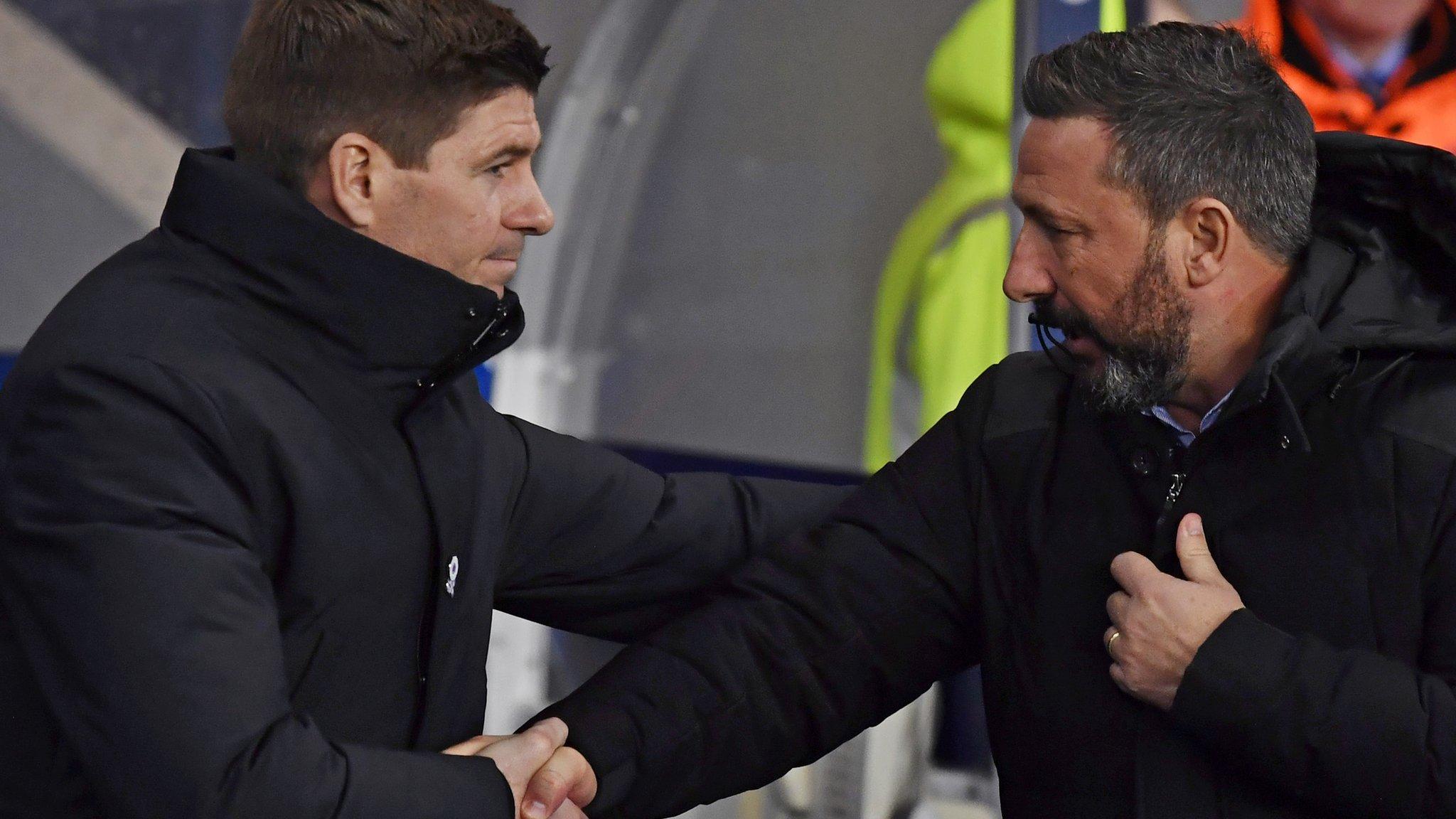 Rangers v Aberdeen: Derek McInnes denies Steven Gerrard claim that side 'lift game'