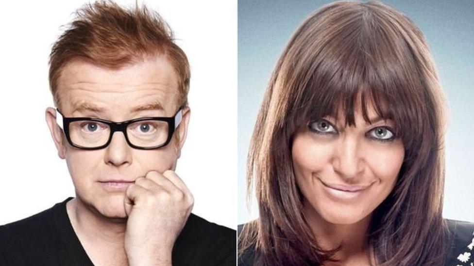 Chris Evans y Claudia Winkleman son las estrellas (hombre y mujer) de más altos salarios de la BBC.
