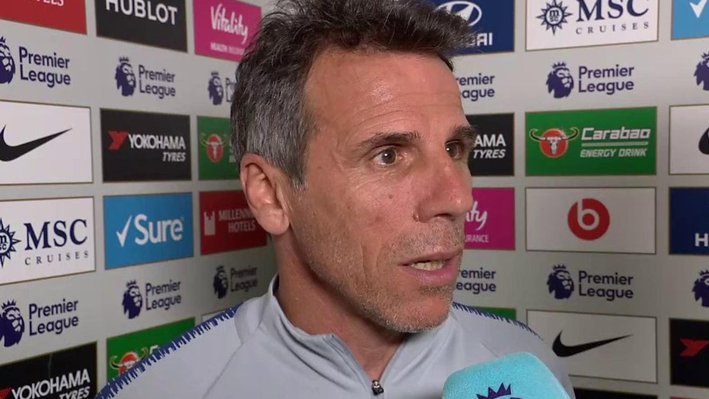 Chelsea 2-2 Burnley: Gianfranco Zola unhappy with Clarets 'time-wasting'
