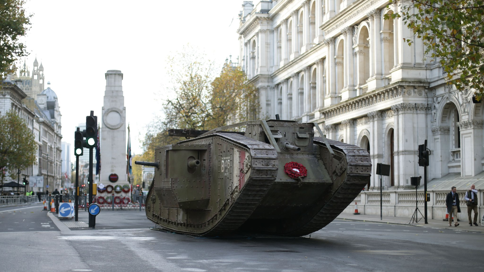 Wiltshire's Royal Tank Regiment marks Cambrai centenary