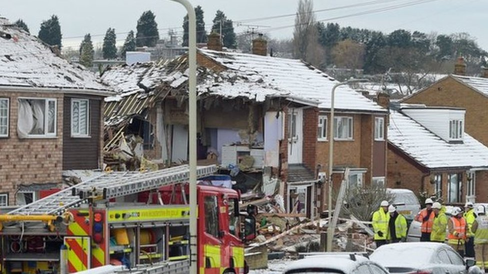 Birstall house explosion: Three hurt in gas blast