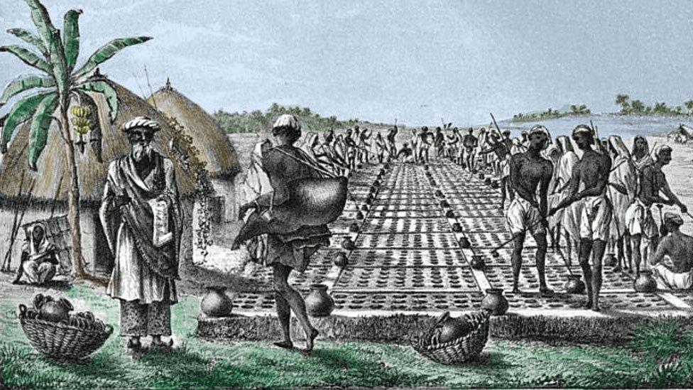 Producción de hielo en India