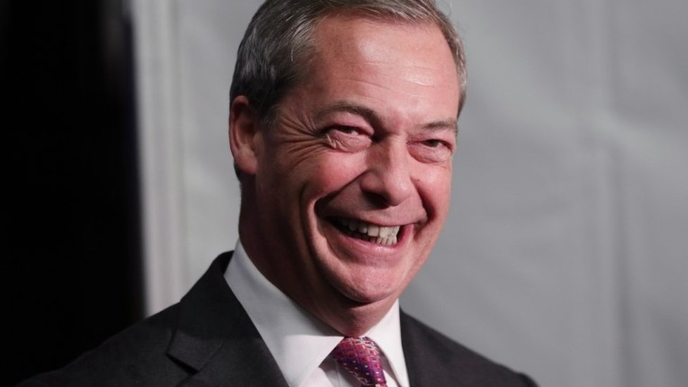 Nigel Farage on Time's person of year shortlist
