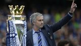 Jose Mourinho with the Premier League trophy