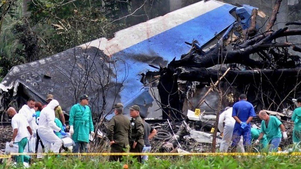 'Very painful' scene at Cuba crash site