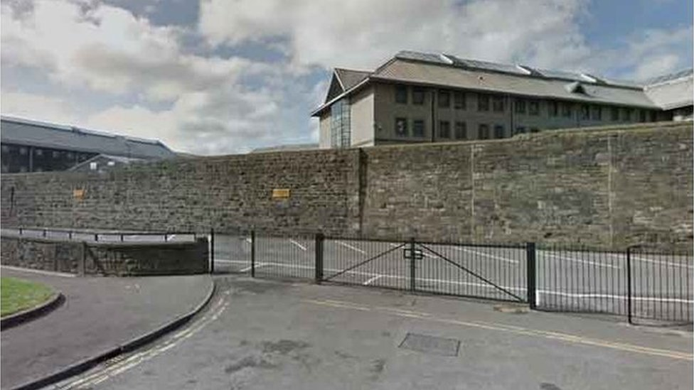 Cardiff prison inmate climbing fence incident 'resolved'