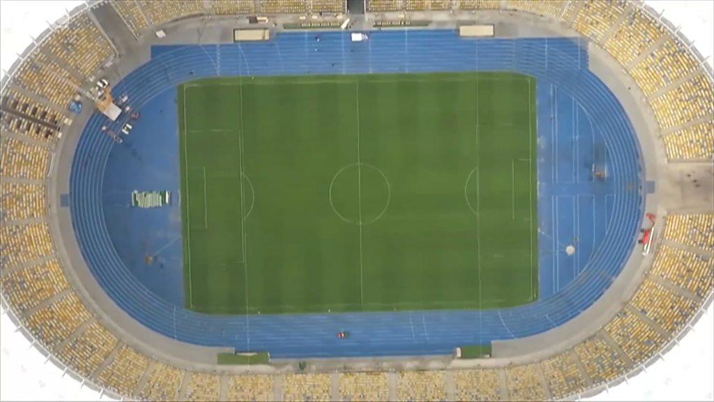 Inside the Champions League final stadium in Kiev