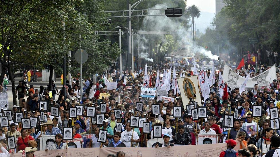 Marcha por Ayotzinapa
