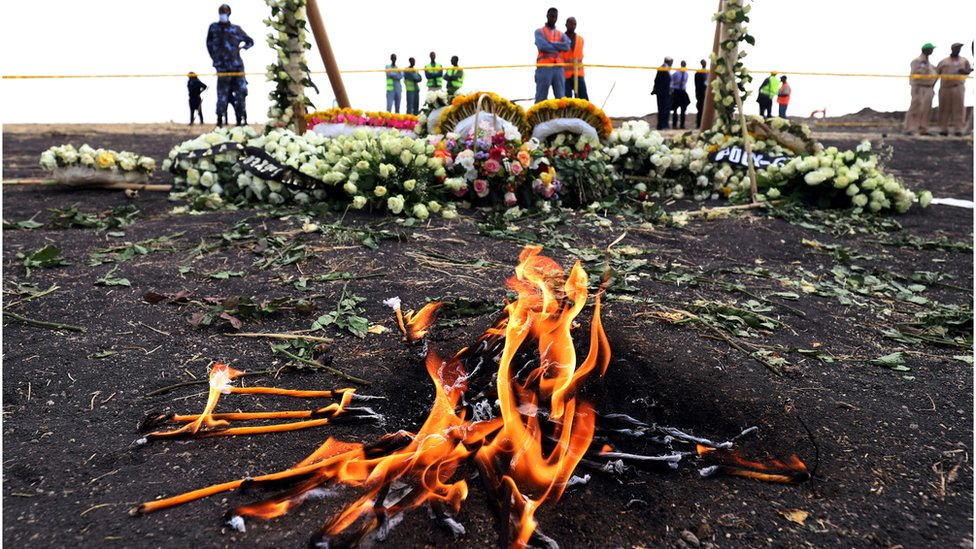 Ethiopian Airlines: Boeing 737 Max crash relatives offered earth for ceremony