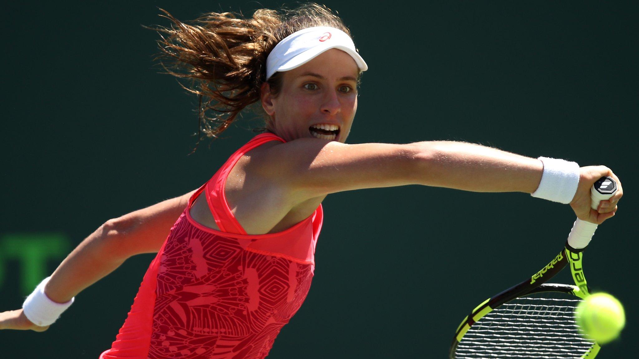 Miami Open: Johanna Konta beats Simona Halep to reach semi-finals