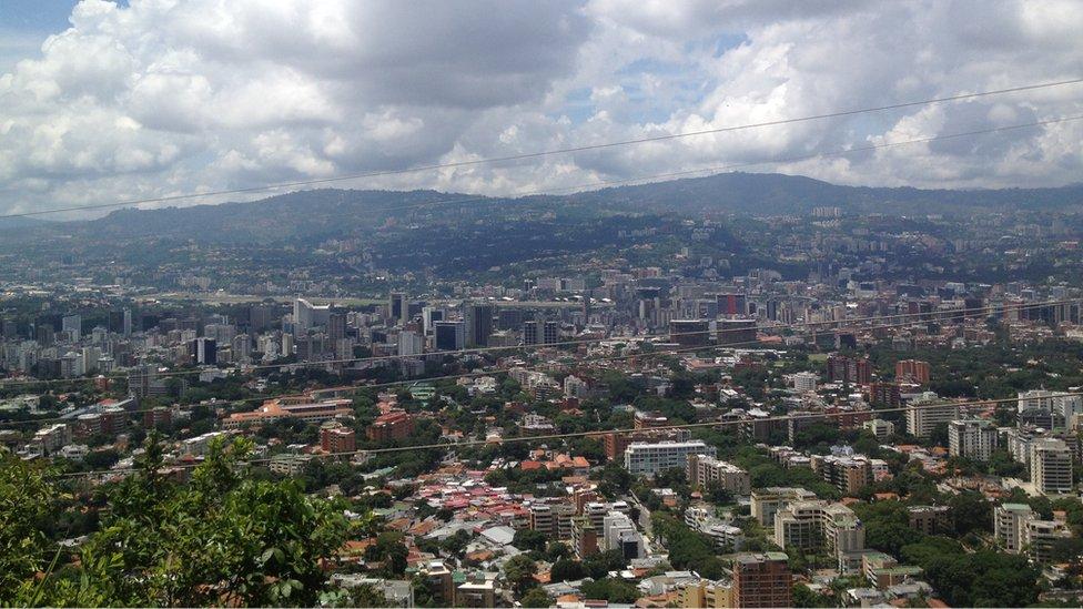 Panorámica de Caracas.