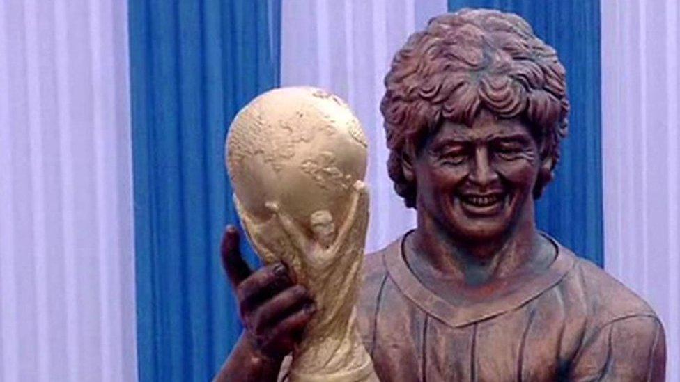 Maradona statue: When football sculptures go wrong