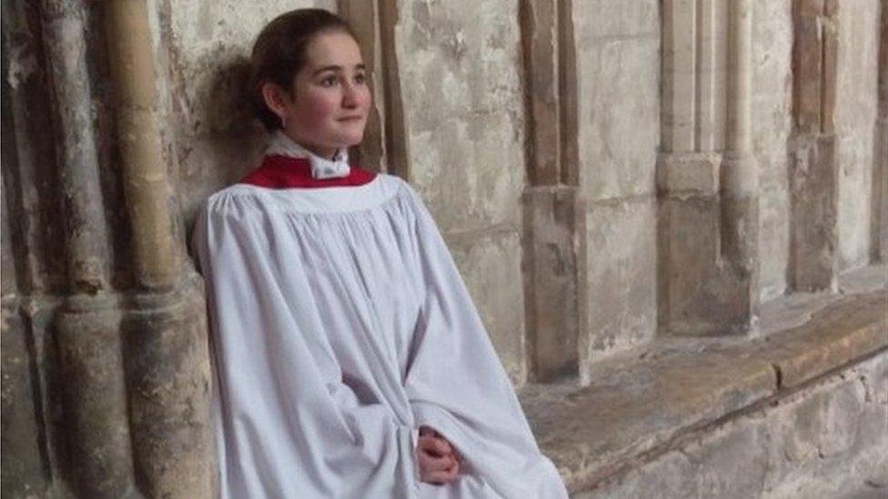 Girl chorister