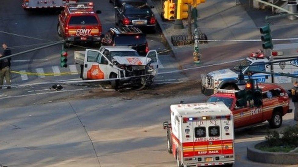 مشهد الهجوم في نيويورك