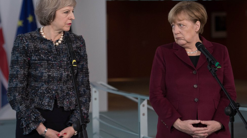 Merkel's Brexit stance shows need for Tory poll win - May