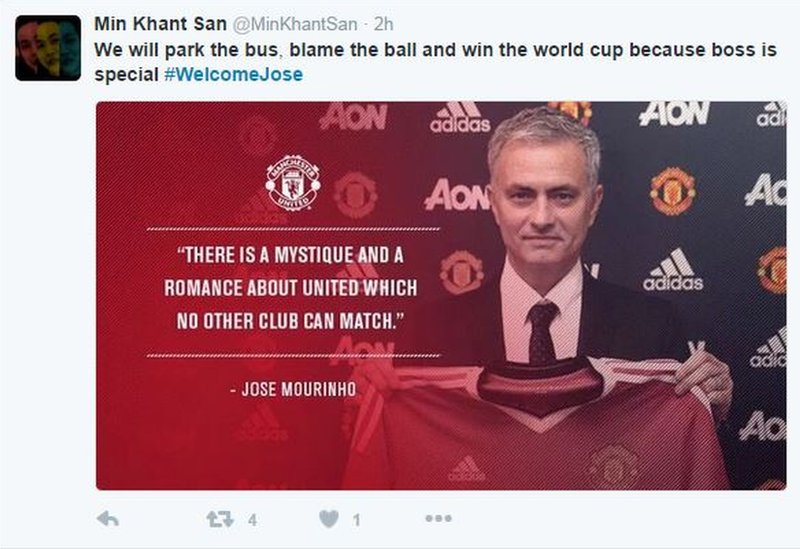 Blame the ball tweet