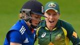 England's Heather Knight and Australia's Alyssa Healy