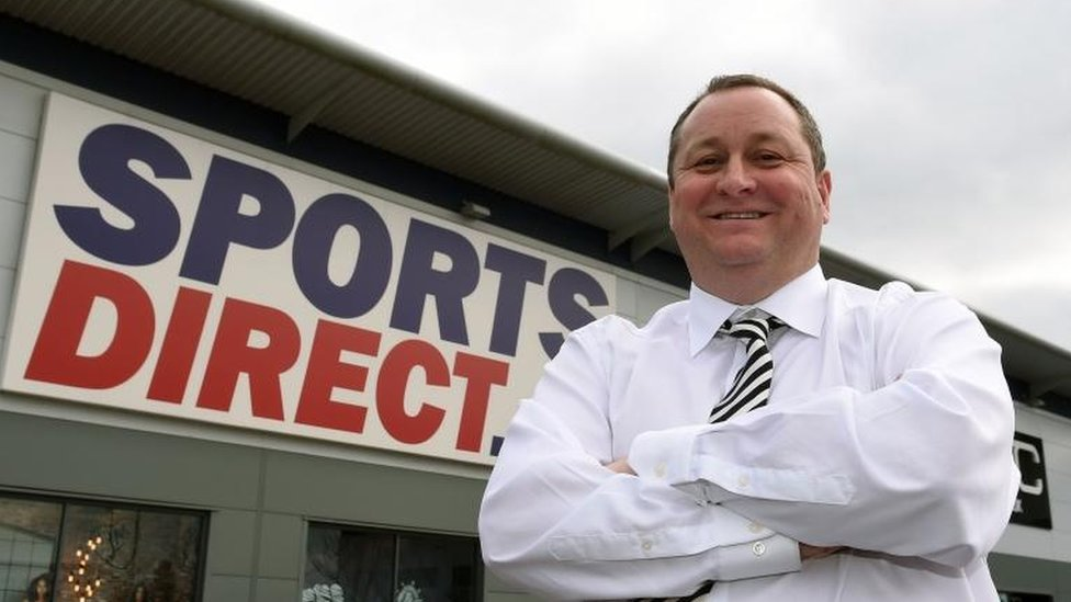 Mike Ashley and Sports Direct store