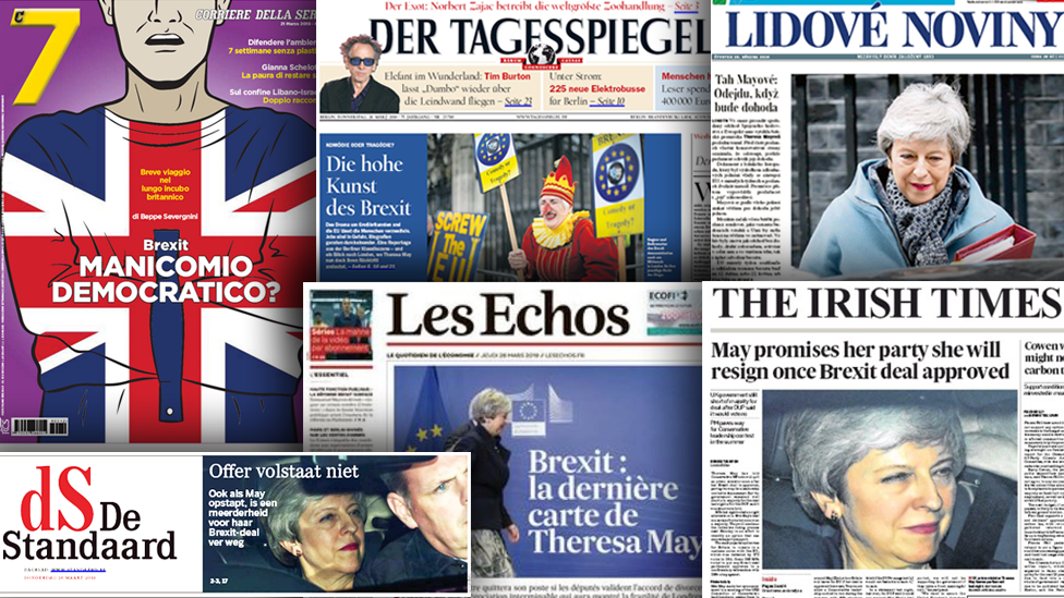 Weary EU press say they're appalled by Brexit deadlock