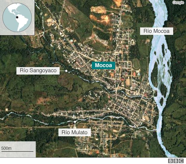 Mapa de Mocoa