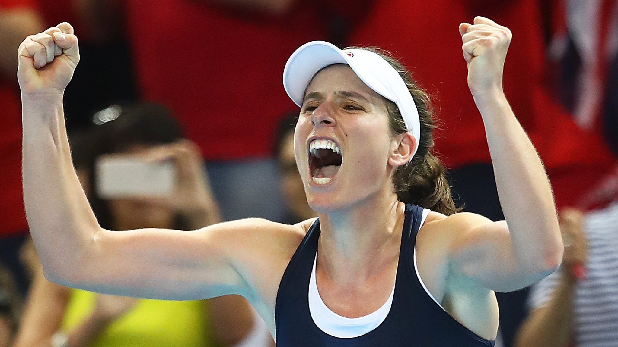 Fed Cup: Great Britain lead Kazakhstan 2-1 after Johanna Konta wins
