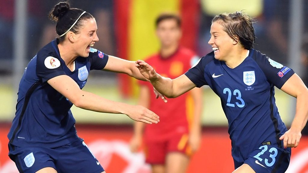 Women's Euro 2017: England 2-0 Spain highlights