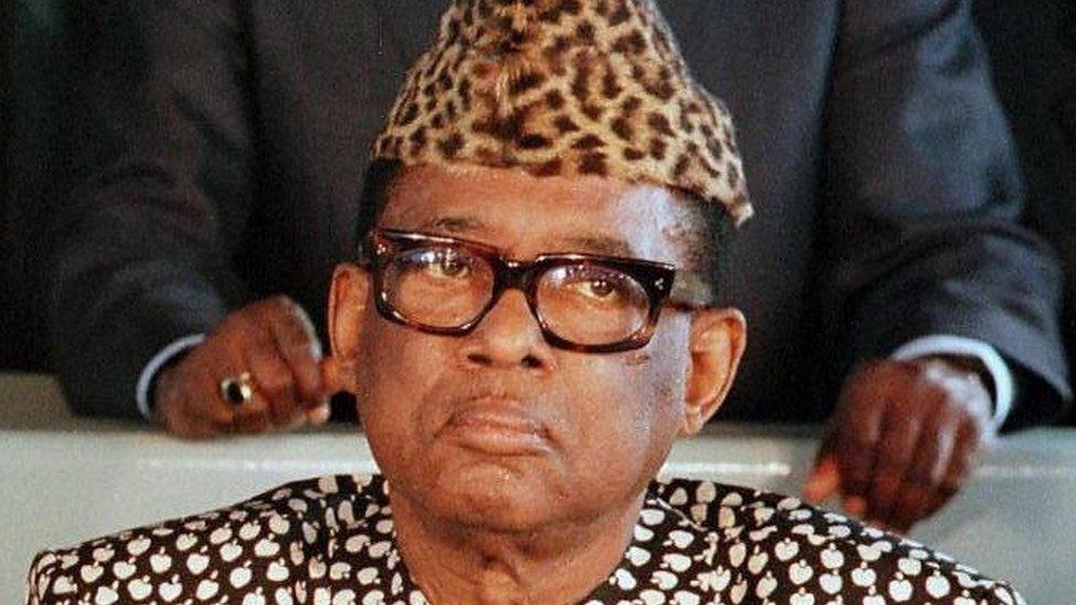 Zaire's Mobutu Sese Seko