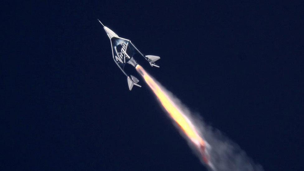 Virgin's Unity plane rockets skyward