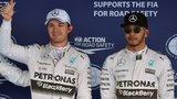 Nico Rosberg of Mercedes celebrates