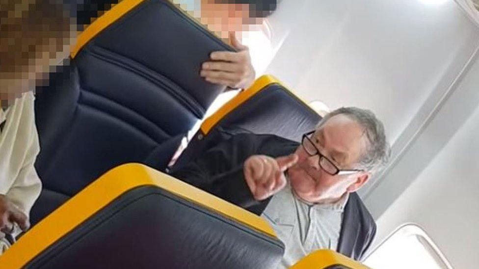 Ryanair flight: 'Racial abuse passenger' referred to police
