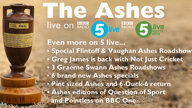 Additional Ashes coverage on 5 live