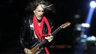 BBC News - Aerosmith guitarist Joe Perry is taken ill on stage