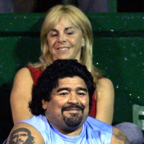 Claudia Villafañe y Diego Armando Maradona