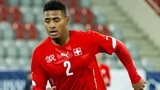 Saidy Janko playing for one of Switzerland's age grade sides