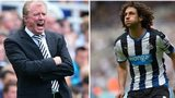 Steve McClaren and Fabricio Coloccini