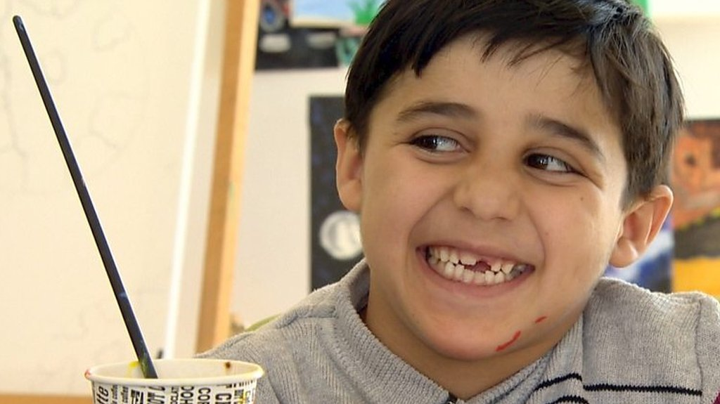 Meet the disabled Syrian boy who is always smiling