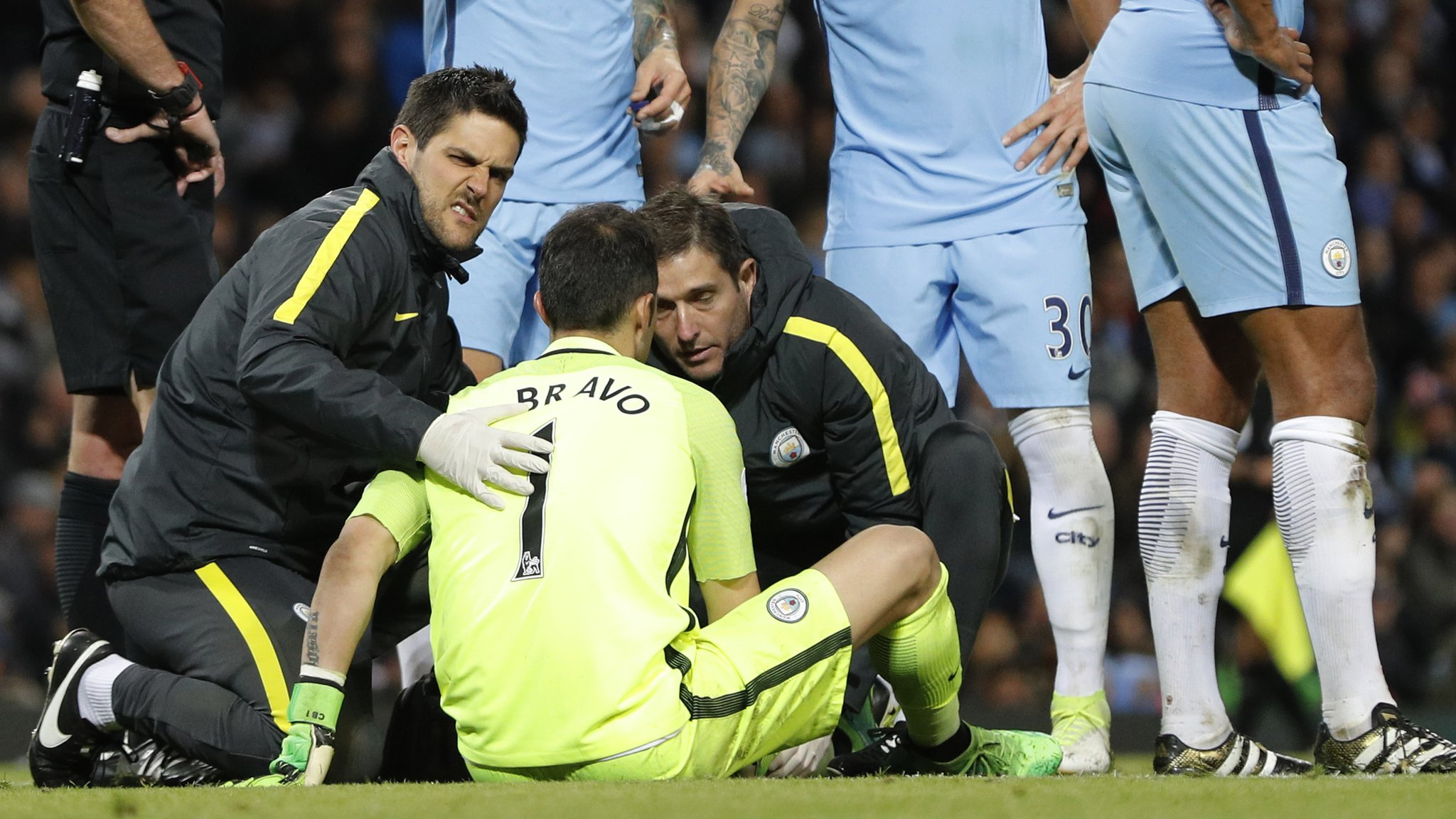 Man City keeper Bravo's season could be over