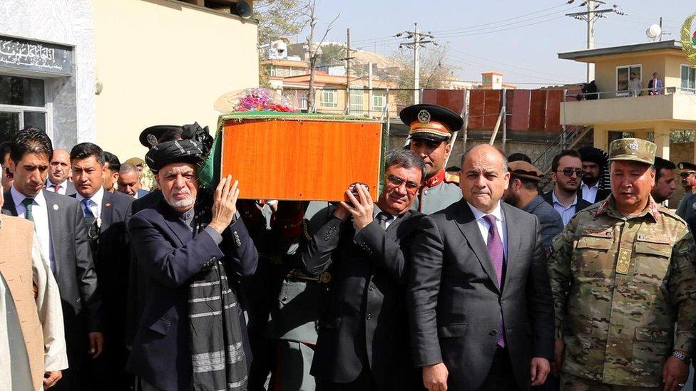 کابل کې د پکتیا امنیه قومندان د جنازې مراسم