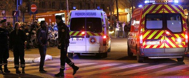 Police outside the Stade de France