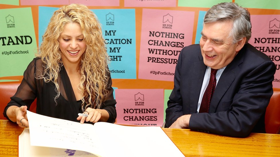 Shakira and Gordon Brown: The odd couple