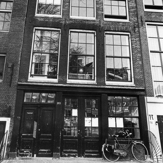 Casa de Prinsengracht 263 en Ámsterdam donde se ocultaron Ana Frank y otros siete judíos.