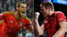 Gareth Bale and Dan Biggar