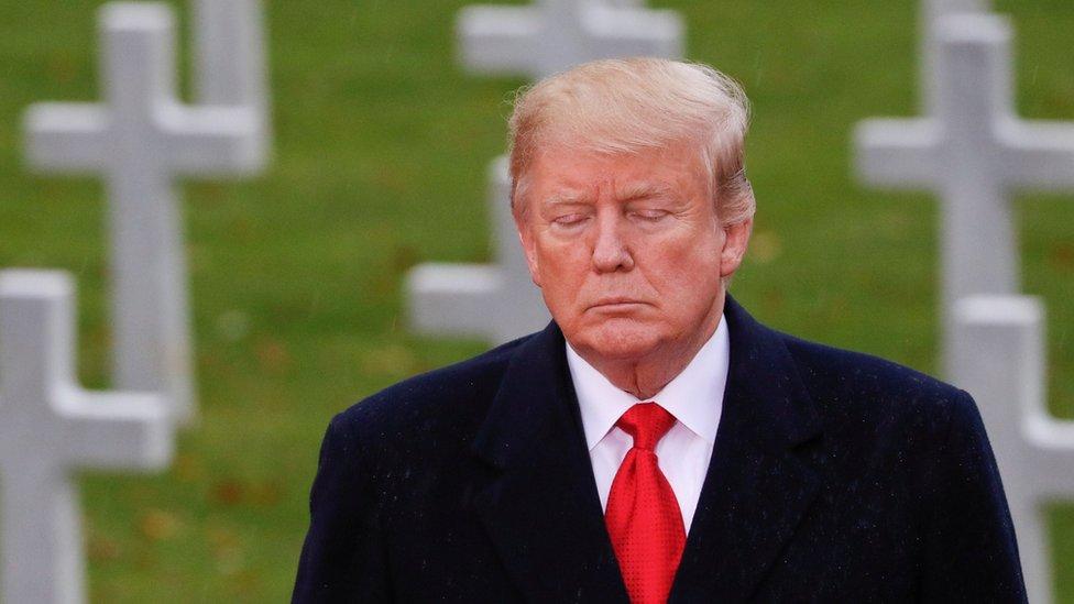 Armistice Day: White House defends Trump WW1 no-show | BBC